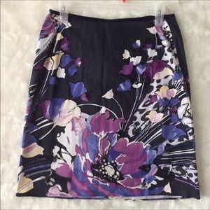 NEW T Tahari Floral Skirt 6